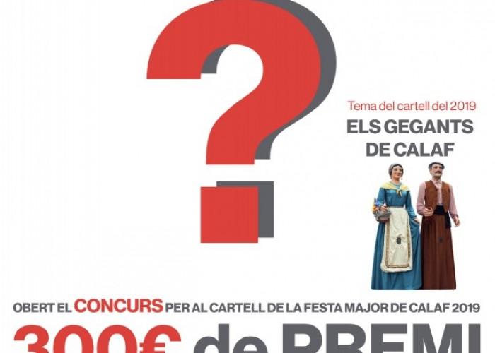 Oberta la convocatòria per al concurs del cartell de la Festa Major de Calaf del 2019