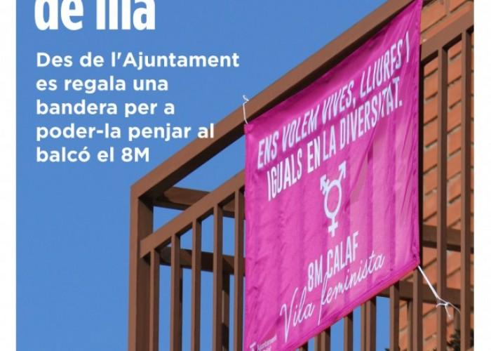 Aquest 8 de març, vestim els balcons de Calaf de lila