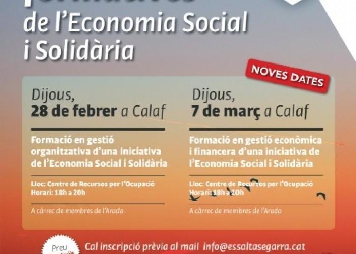 Formacions en gestió econòmica en l'àmbit de l' Economia Social i Solidària