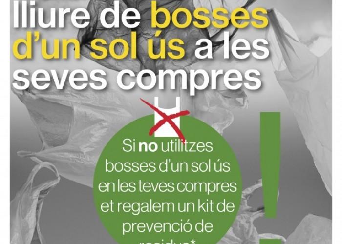 Calaf es suma a la Setmana Europea de la Prevenció de Residus promovent les compres sense bosses d'un sol ús