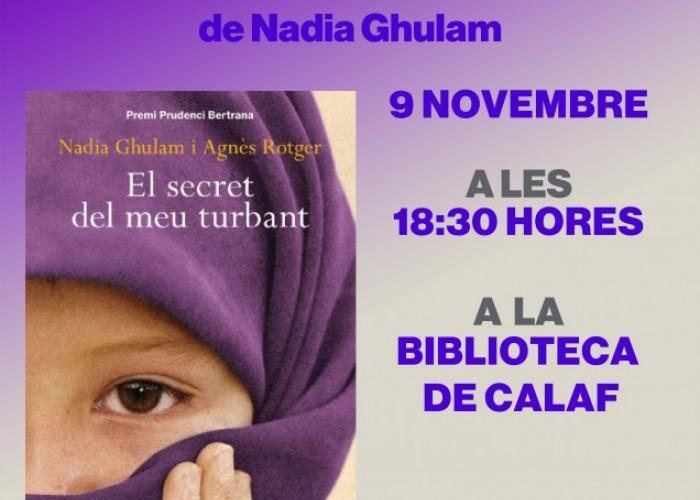 """Nadia Ghulam presentarà la seva obra """"El secret del meu turbant"""" a Calaf"""