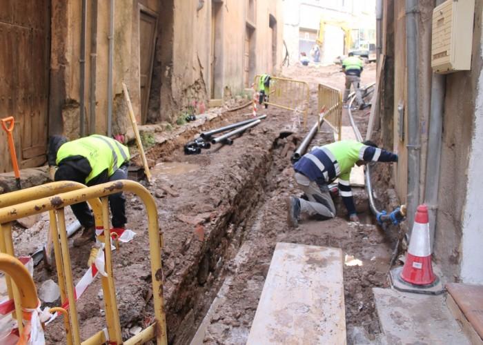 Les obres del carrer  de  Xuriguera arriben  al seu tram final