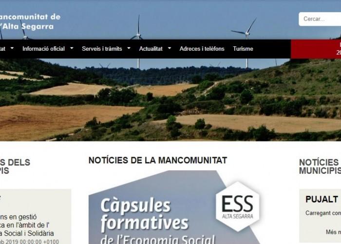 La Mancomunitat de l'Alta Segarra ja disposa d'una web pròpia