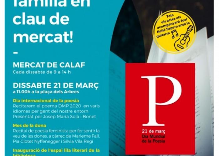 La Biblioteca i el Mercat de Calaf s'afegeixen als actes del Dia Mundial de la Poesia