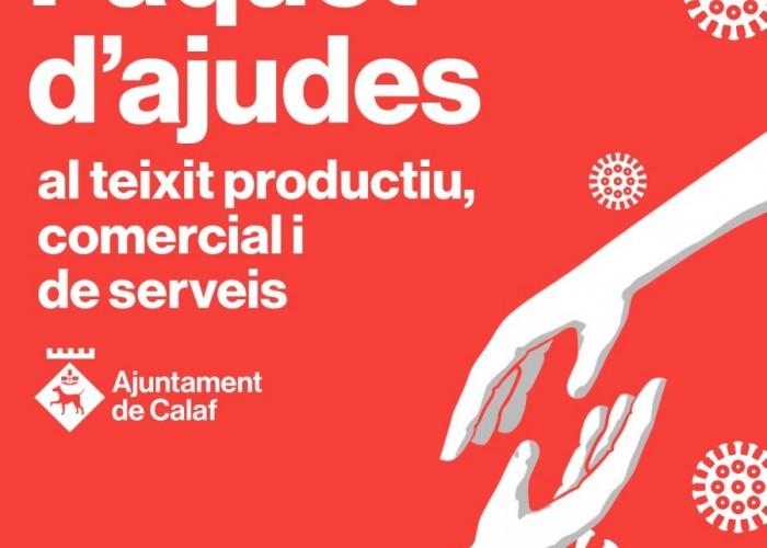 L'Ajuntament de Calaf impulsa un paquet d'ajudes de 30.000 euros destinat al teixit productiu, comercial i de serveis afectats per la Covid-19